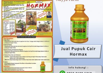 Jual Pupuk Cair Hayati Hormax dan Bio Extreme Granul di Nayya Farm Cileungsi